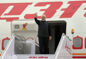 The Prime Minister, Shri Narendra Modi departing from New Delhi for his visit to Russia, on December 23, 2015.